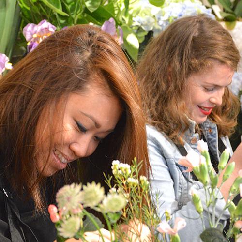 Cours EVJF couronne de fleurs
